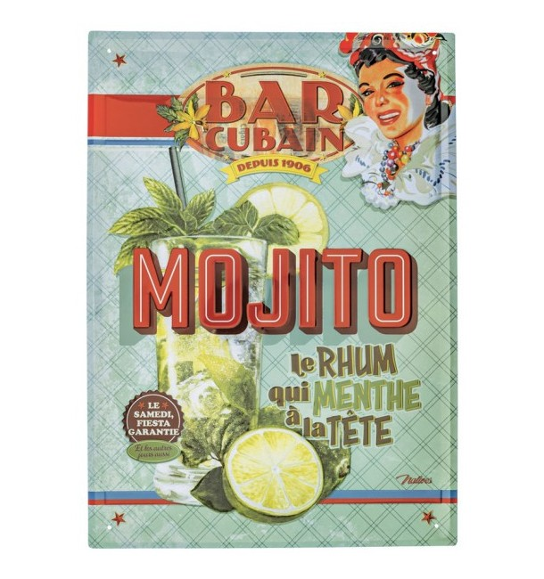 "Plaque métal GM ""Mojito"" - Natives"