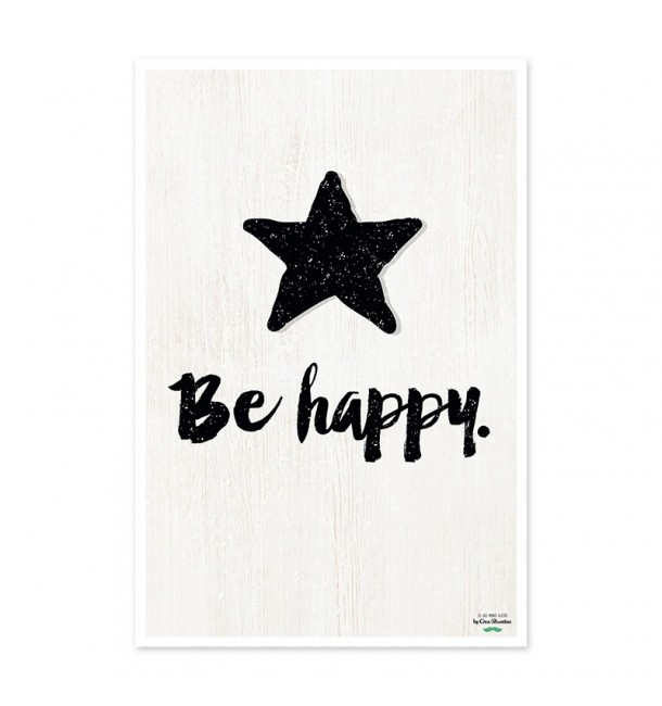 Affiche Be Happy - Créa-Bisontine