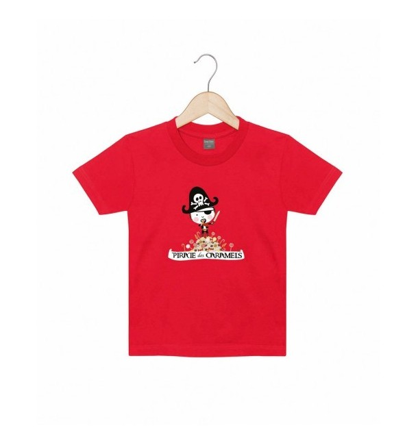 Tee-shirt Pirate des caramels Rouge - Alma Mater