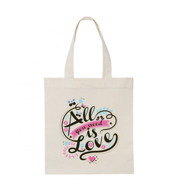 Tote-bag All you need is love Ecru - Alma Mater