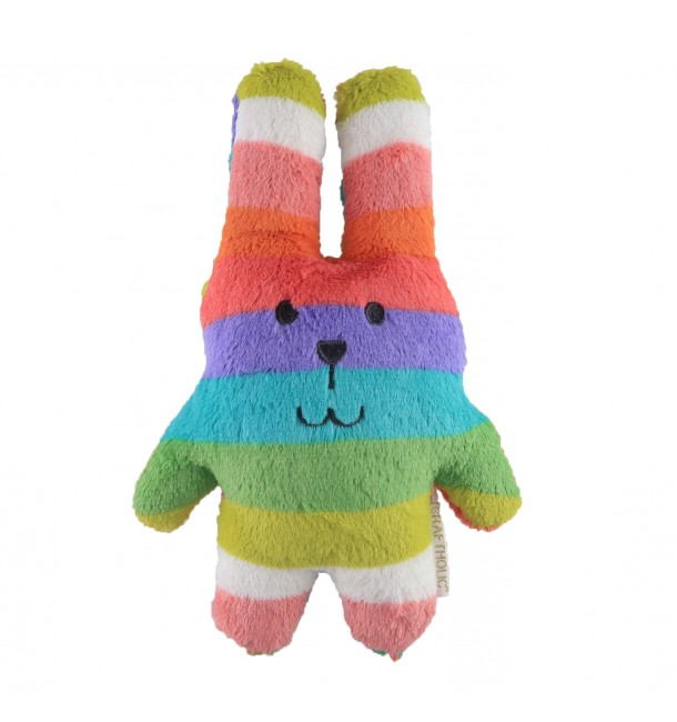 Coussin Câlin RAB le Lapin Pois pastel Taille Junior - Craftholic