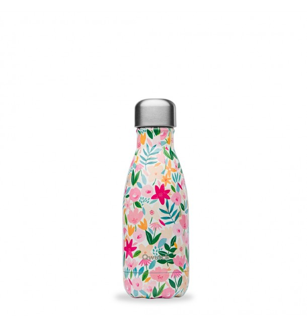 Bouteille isotherme 260 ml Flora Rose - Qwetch