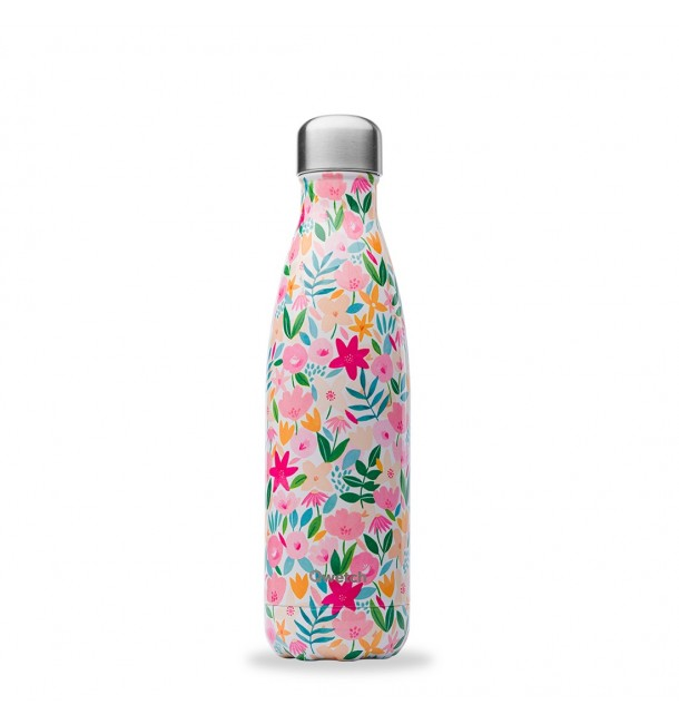Bouteille isotherme 500 ml Flora Rose - Qwetch