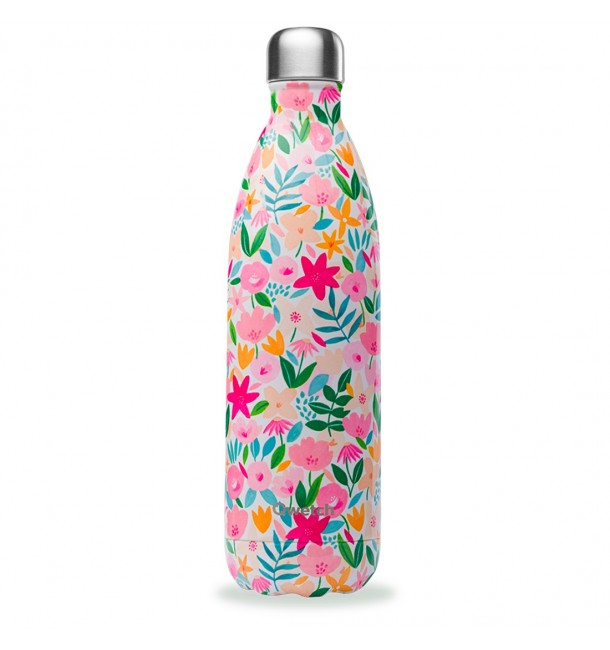 Bouteille isotherme 1 L Flora Rose - Qwetch