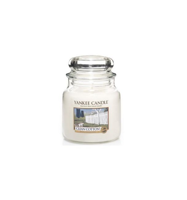 Bougie Moyenne Jarre Clean Cotton - Yankee Candle
