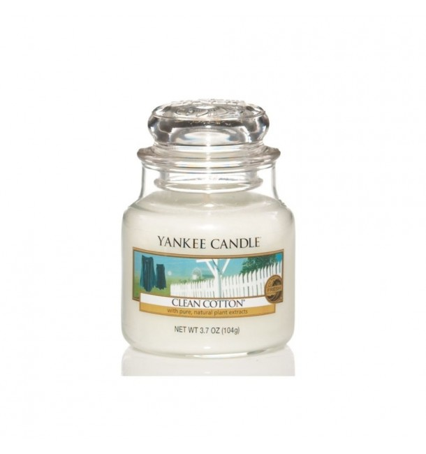 Bougie Petite Jarre Clean Cotton - Yankee Candle